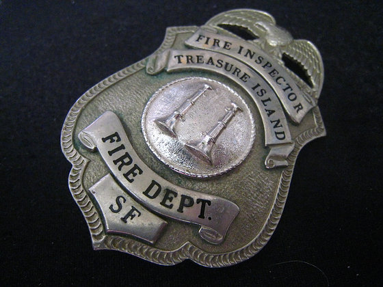 Badge FIRE INSPECTOR Treaure Island SAN FRANCISCO