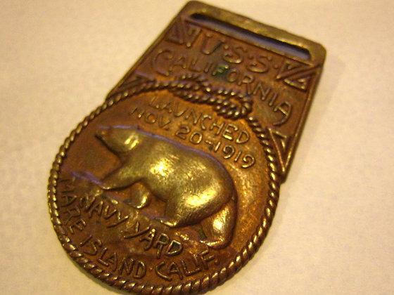 Key/Watch Fob Medallion LAUNCHING: USS CALIFORNIA