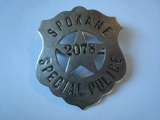 Vintage Pin Badge / Shield SPOKANE Washington SPECIAL POLICE