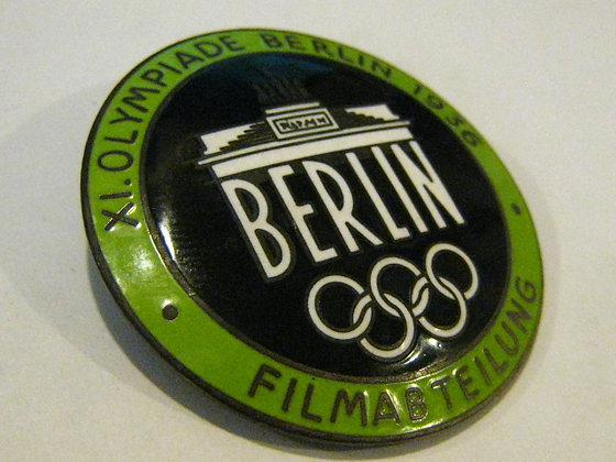 1936 OLYMPICS Berlin Germany -Early Pin-back Badge