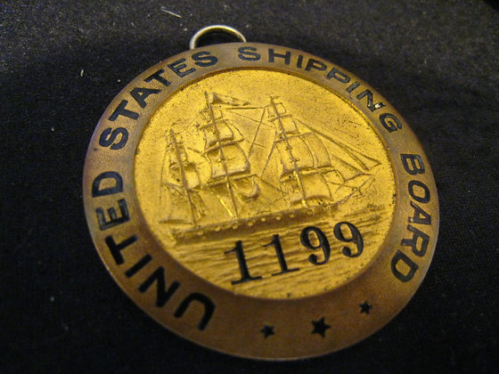 ANTIQUE Badge / Medallion UNITED STATES SHIPPING BOARD