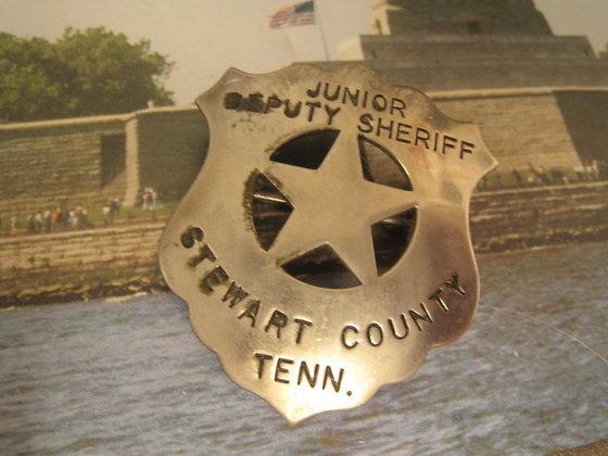 STAR SHIELD / BADGE Jr. Deputy Sheriff STEWART CO