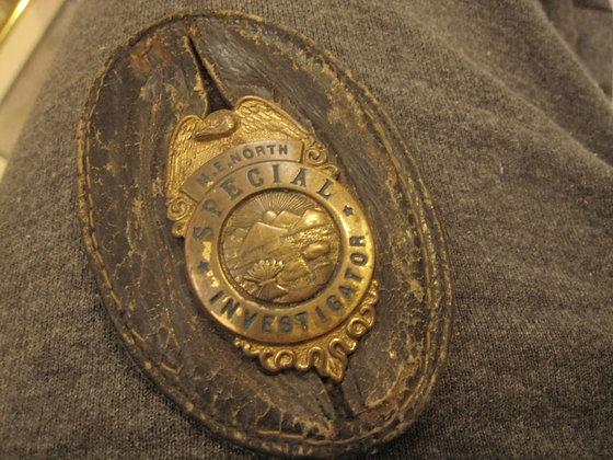 Antique Badge SPECIAL INVESTIGATOR Ohio