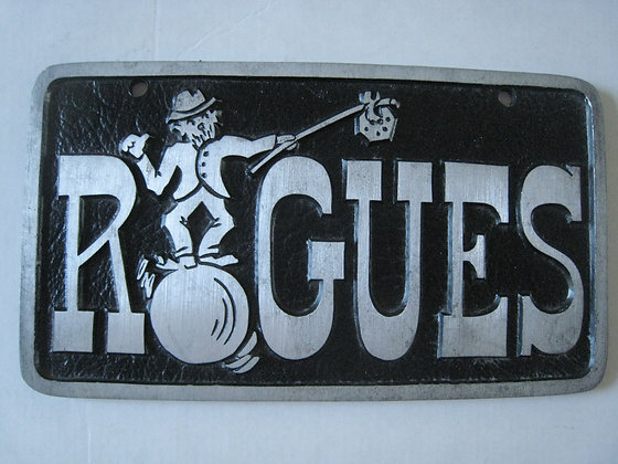 "1950's Hot Rod  CAR CLUB PLAQUE "" ROGUES  MINNEAPOLIS MINNESOTA"
