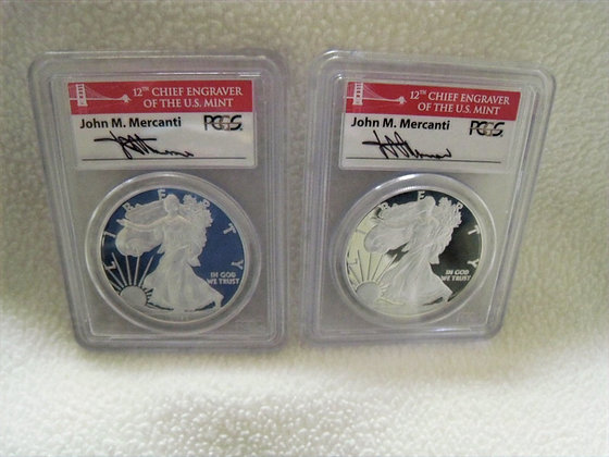 2012 SAN FRANCISCO MINT Silver Eagle COIN SET Proof Condition