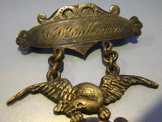 1887 MILITARY BADGE Bayonet Squad NAMED AND MAKER