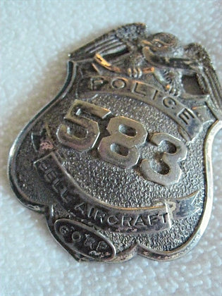 Police Badge BELL AIRCRAFT CORPORATION Eagle-Top