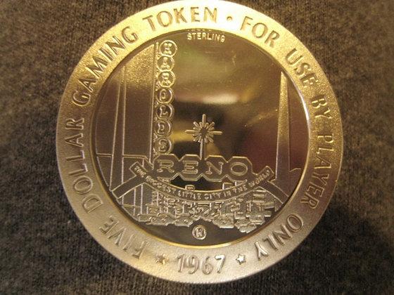 Sterling Silver Casino Token HAROLD'S CLUB RENO NV