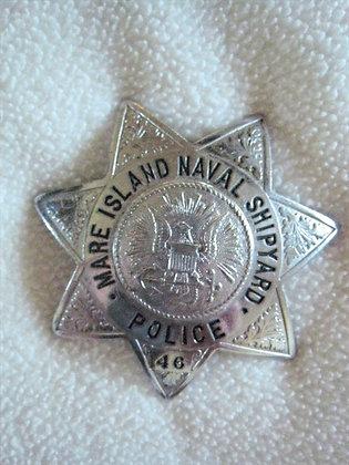 Police Badge MARE ISLAND Naval Shipyard VALLEJO CA