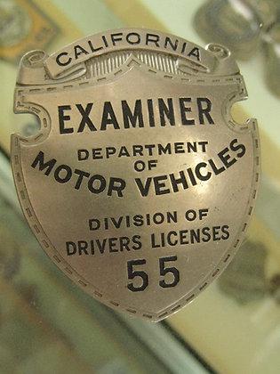 Vintage Badge STATE OF CALIFORNIA DEPARTMENT OF MOTOR VEHICLE