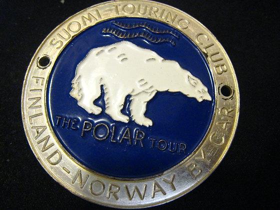 AUTOMOBILE BADGE -Polar Bear -TOURING CLUB Finland SUOMI