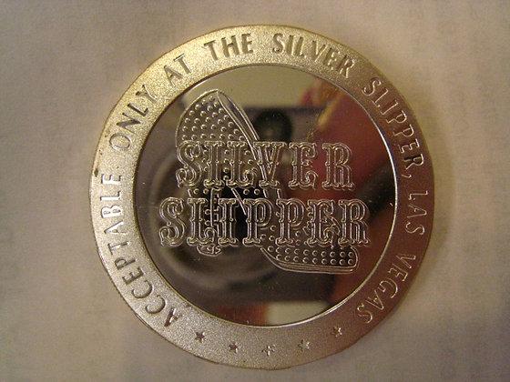 STERLING SILVER CASINO TOKEN Silver Slipper LV, NV