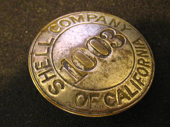 SHELL OIL / GASOLINE COMPANY Employee Badge CA
