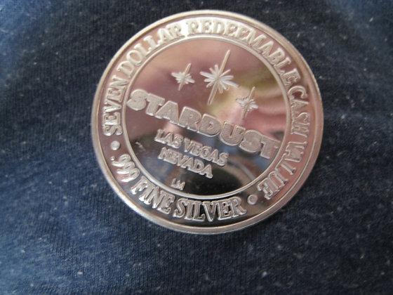 .925 Silver CASINO TOKEN $7 LAS VEGAS - Pure .999 Silver