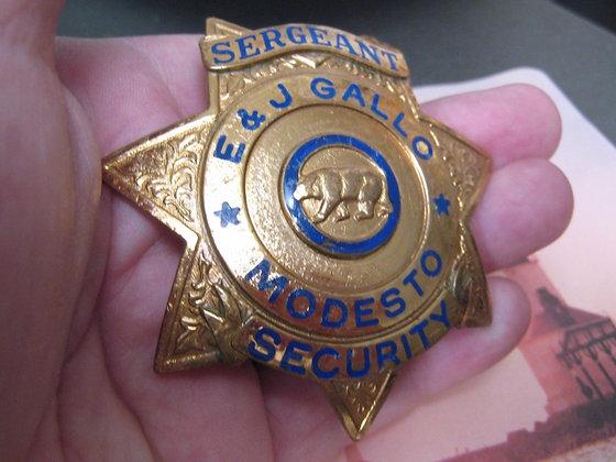Security Badge GALLO WINERY Modesto California