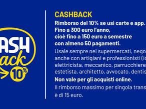 Premi per chi utilizza strumenti di pagamento elettronici CASHBACK