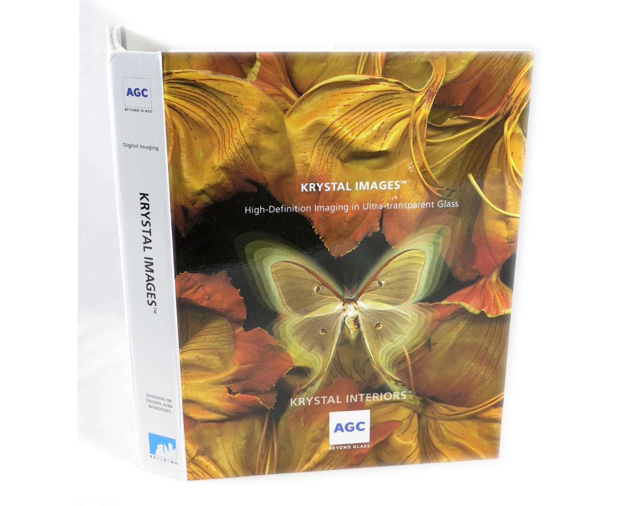 Glass book cover