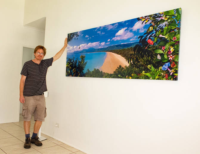 A large canvas print (limited edition) of Fourmile beach, Port Douglas. Created as a commisioned artwork for a customer.