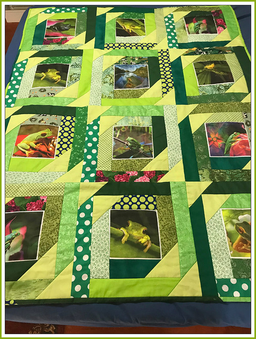 Frog Quilt by Cath Cull