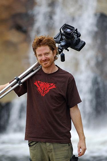 photo of gerhard hillmann holding a medium format camera