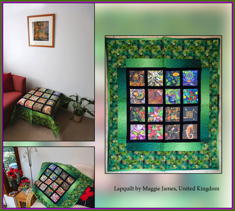 Lapquilt by Maggie James