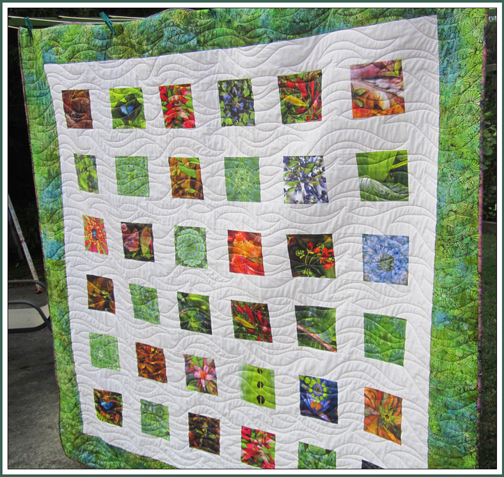Quilt by Glad and Tony Hough.