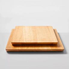 2 Piece Nonslip Wood Cutting Board Set