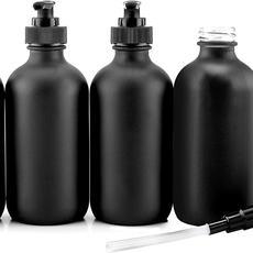 Matte Black Glass Bottle Dispensers