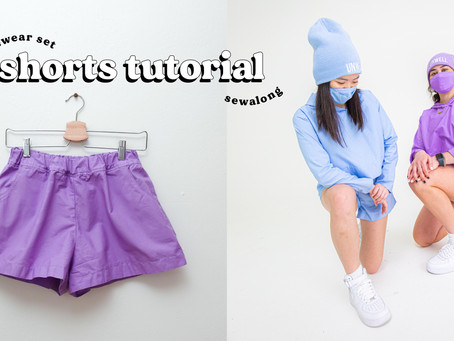 How to Sew Shorts in 7 Steps | Loungewear Set Part 2 of 2