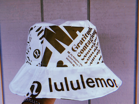 Lululemon Bag Upcycled Into Bucket Hat... IN ONE MINUTE