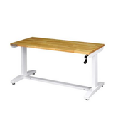 Husky Work Table in White