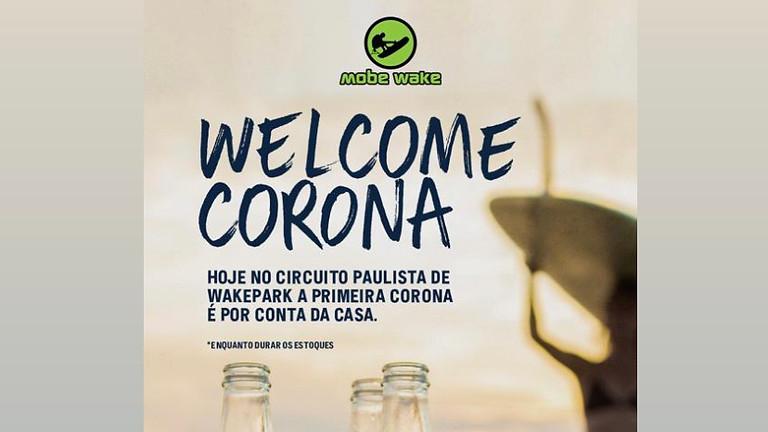 Sunset Welcome Corona no Campeonato Paulista de Wakeboard