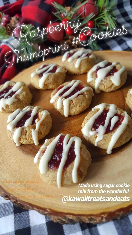 Raspberry Thumbprint Cookies   Keto   Low Carb   Gluten Free