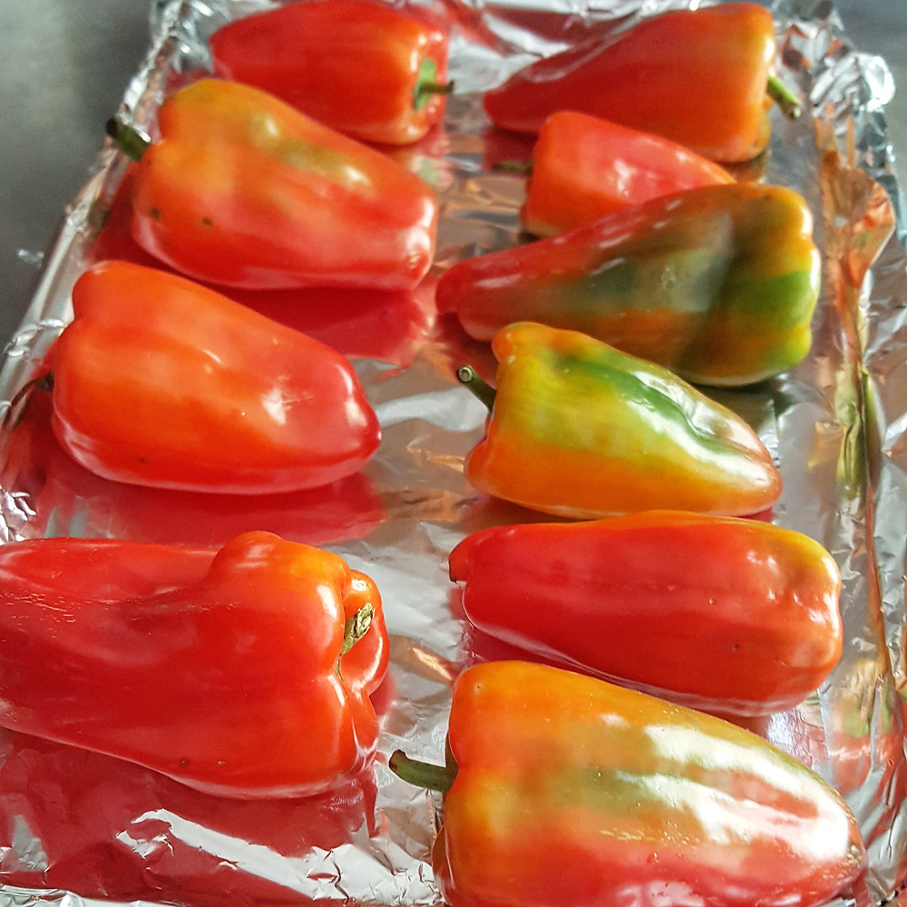 Roasted Bell Peppers in Olive Oil and Garlic