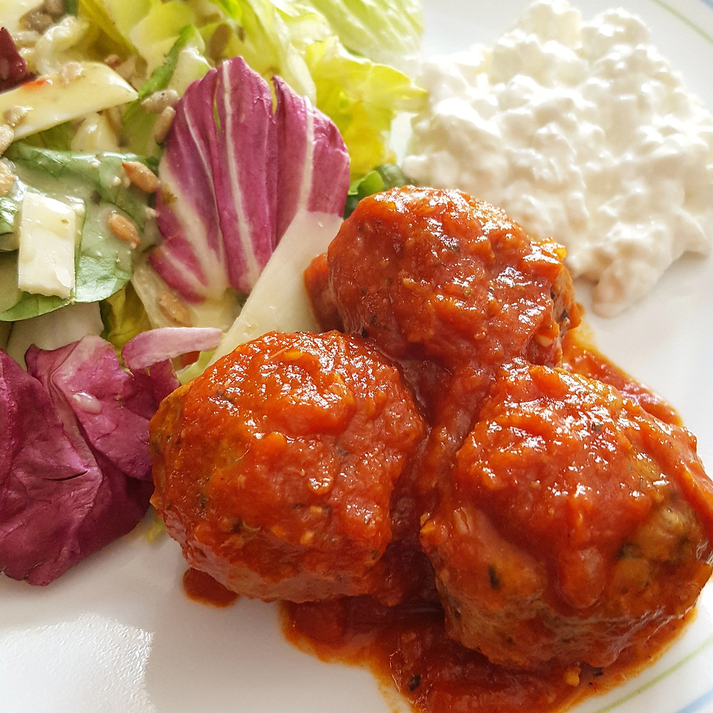 Low Carb Keto Meatballs with Marinara Sauce  Make Best Low Carb Meatballs w/your Favorite Marinara Sauce