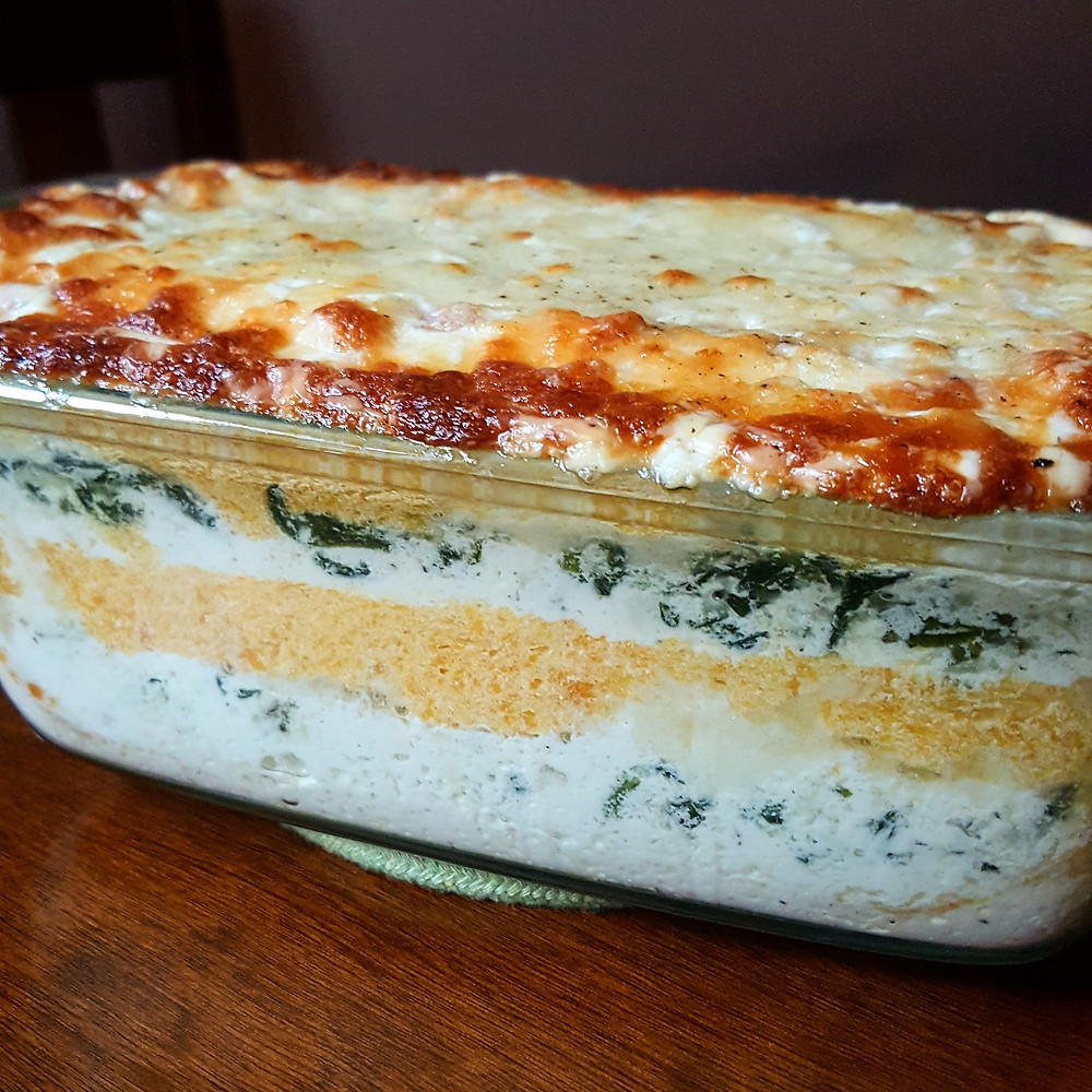 Butternut Squash  and Spinach Lasagna Low Carb Keto