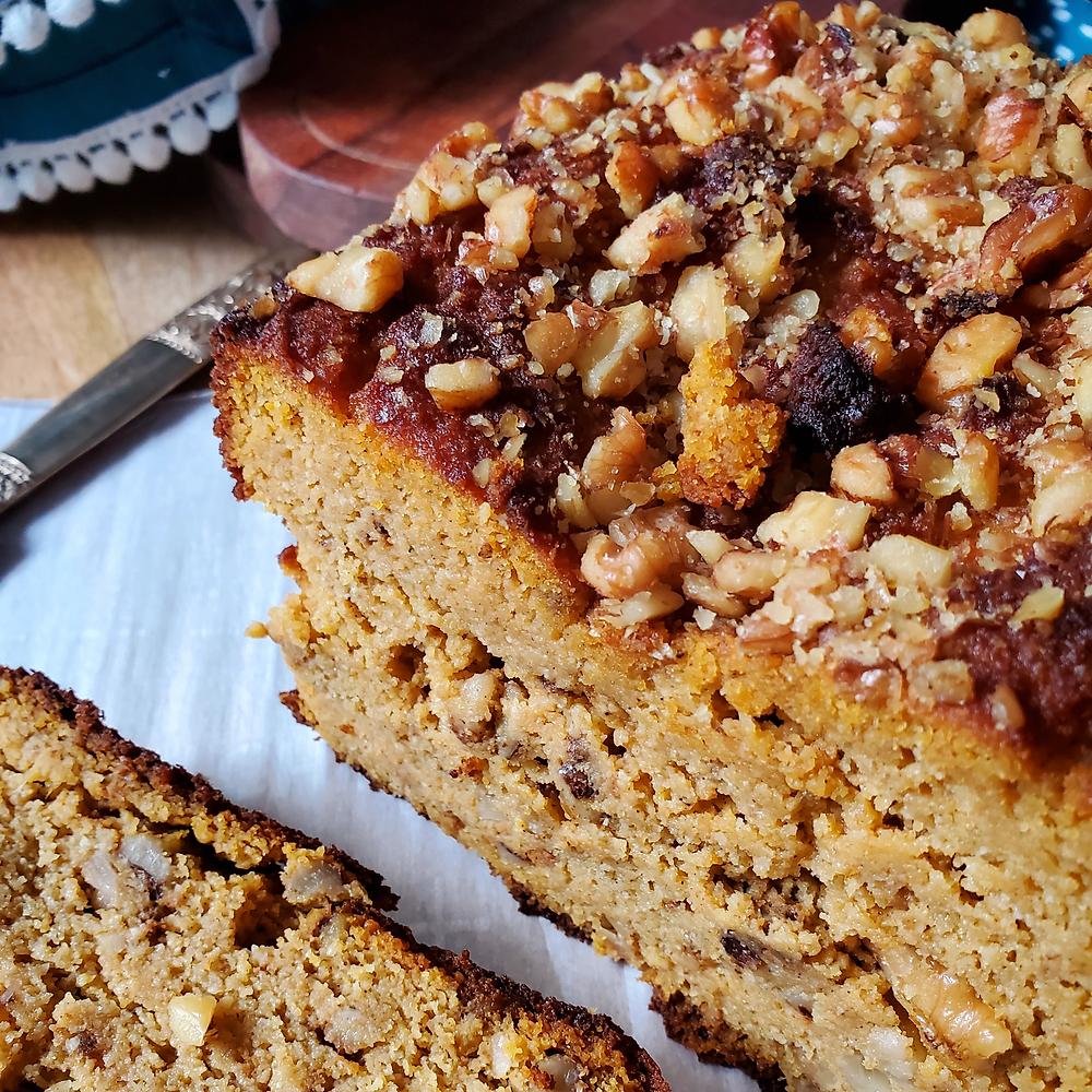 Pumpkin Bread with Walnuts | Keto | Low Carb | Gluten Free | Paleo