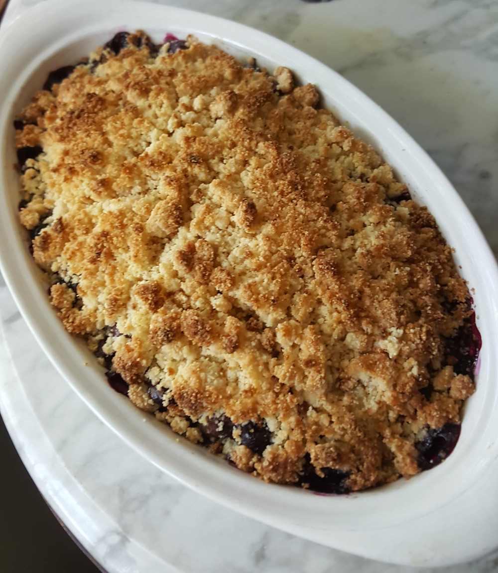 Blueberry Cobbler | Low Carb | Keto | Gluten-Free
