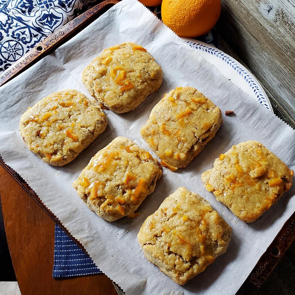 Orange Glazed Scones with Walnuts | Keto | Low Carb | Gluten-Free
