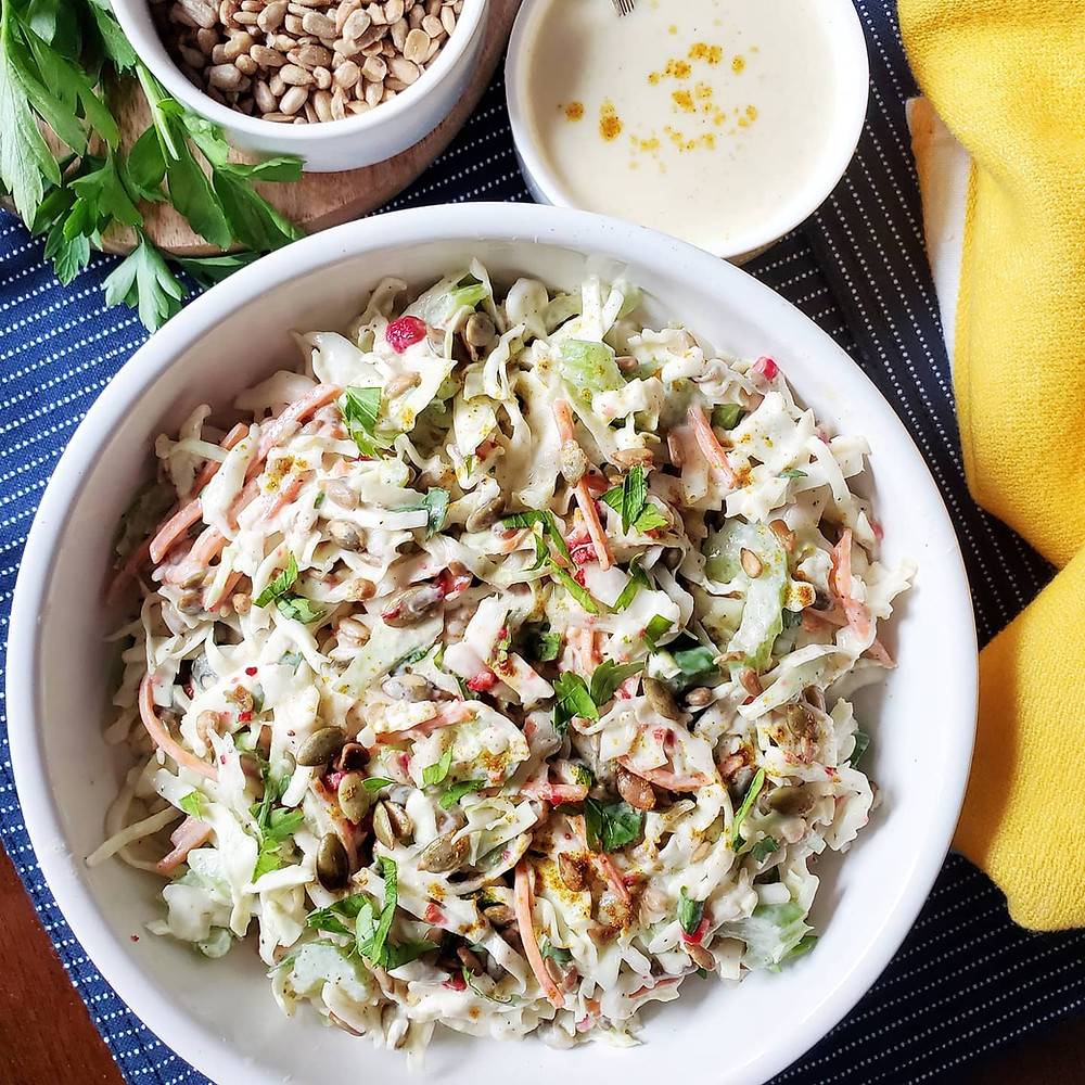 Creamy Curry Coleslaw