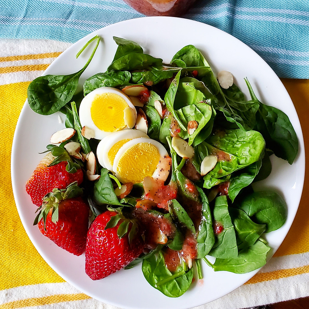 Strawberry Poppyseed Salad Dressing | Keto | Low Carb | Paleo