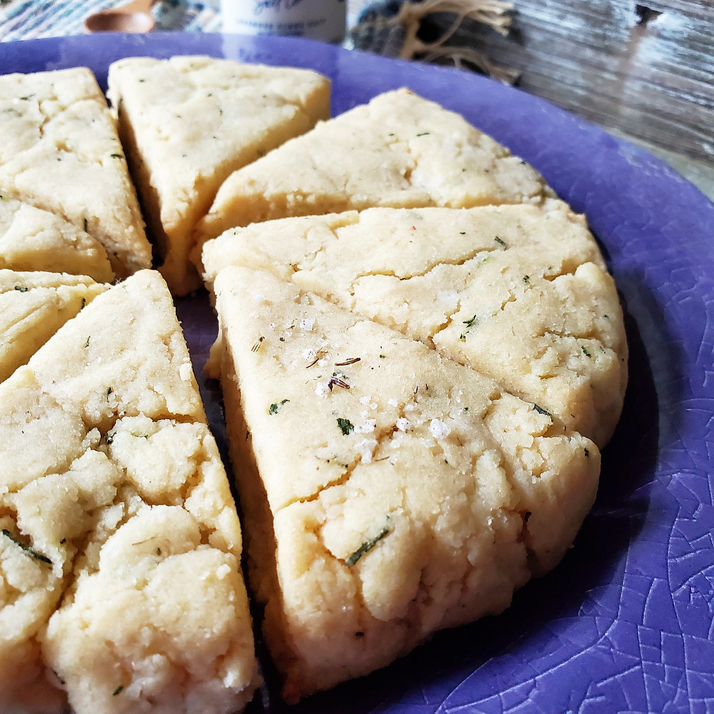 Savory Rosemary Lavender Scones | Keto | Low Carb | Gluten-Free