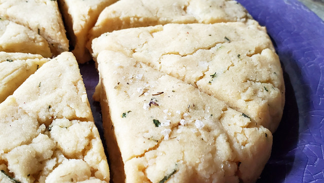 Savory Rosemary Lavender Scones   Keto   Low Carb   Gluten-Free