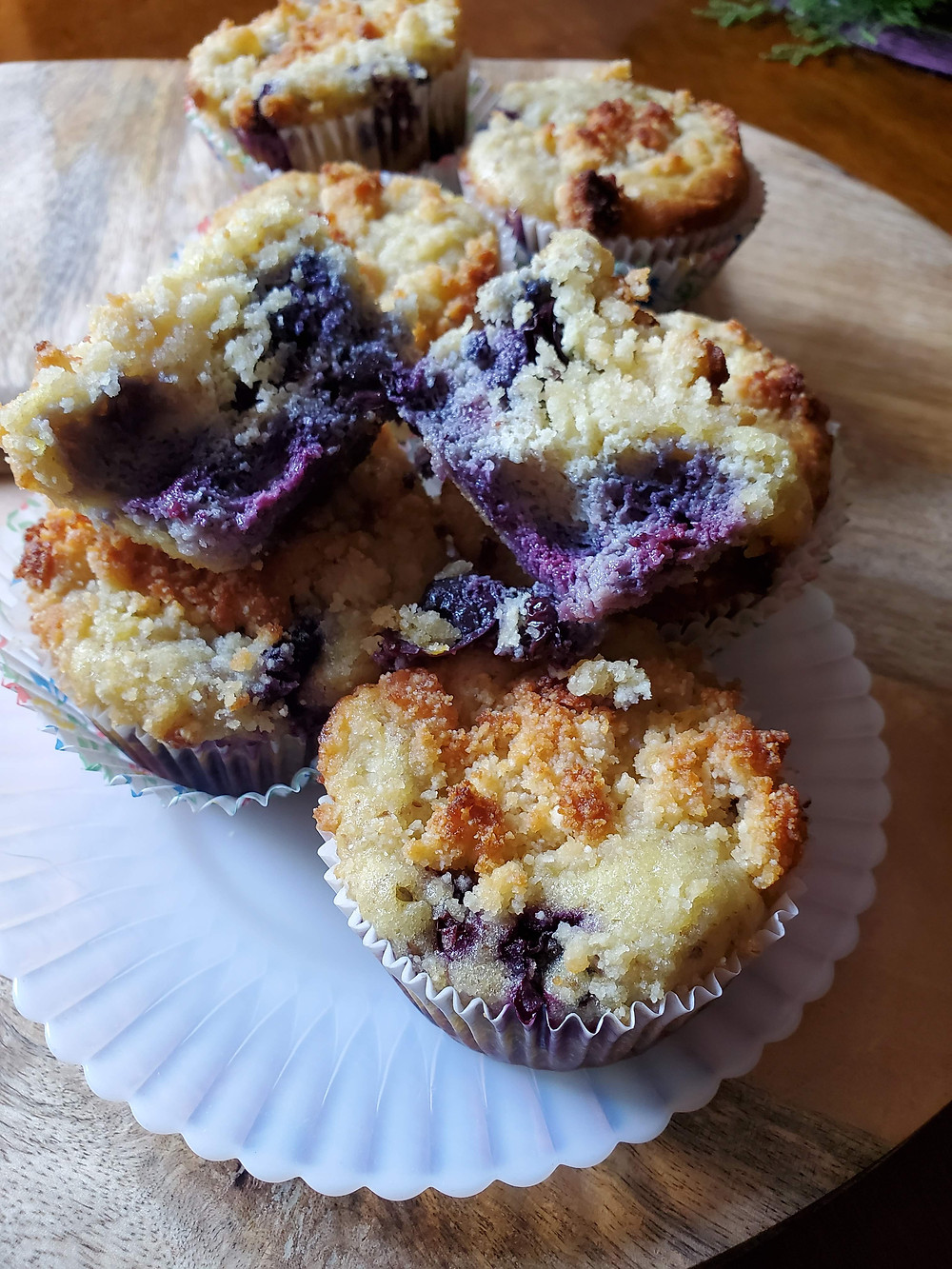 Sunflower Seed Flour Blueberry Streusel Muffins | Keto | Low Carb | Gluten-Free