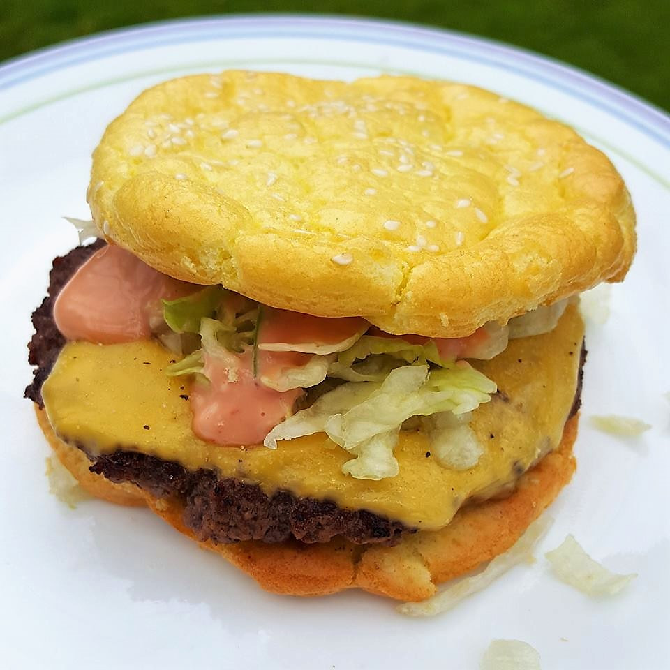 Cloud Bread Cheese Burger | Keto | Low Carb