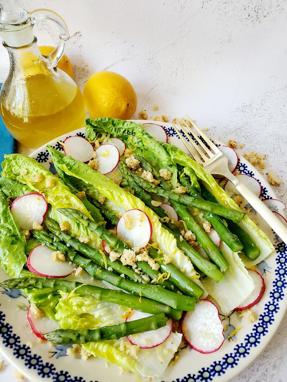Spring Asparagus Salad With Lemon Vinaigrette - Keto | Low Cab | Gluten-Free