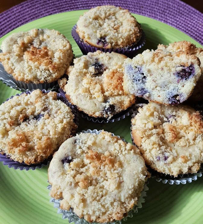 Lemon Blueberry Streusel Muffins | Low Carb | Keto | Gluten-Free
