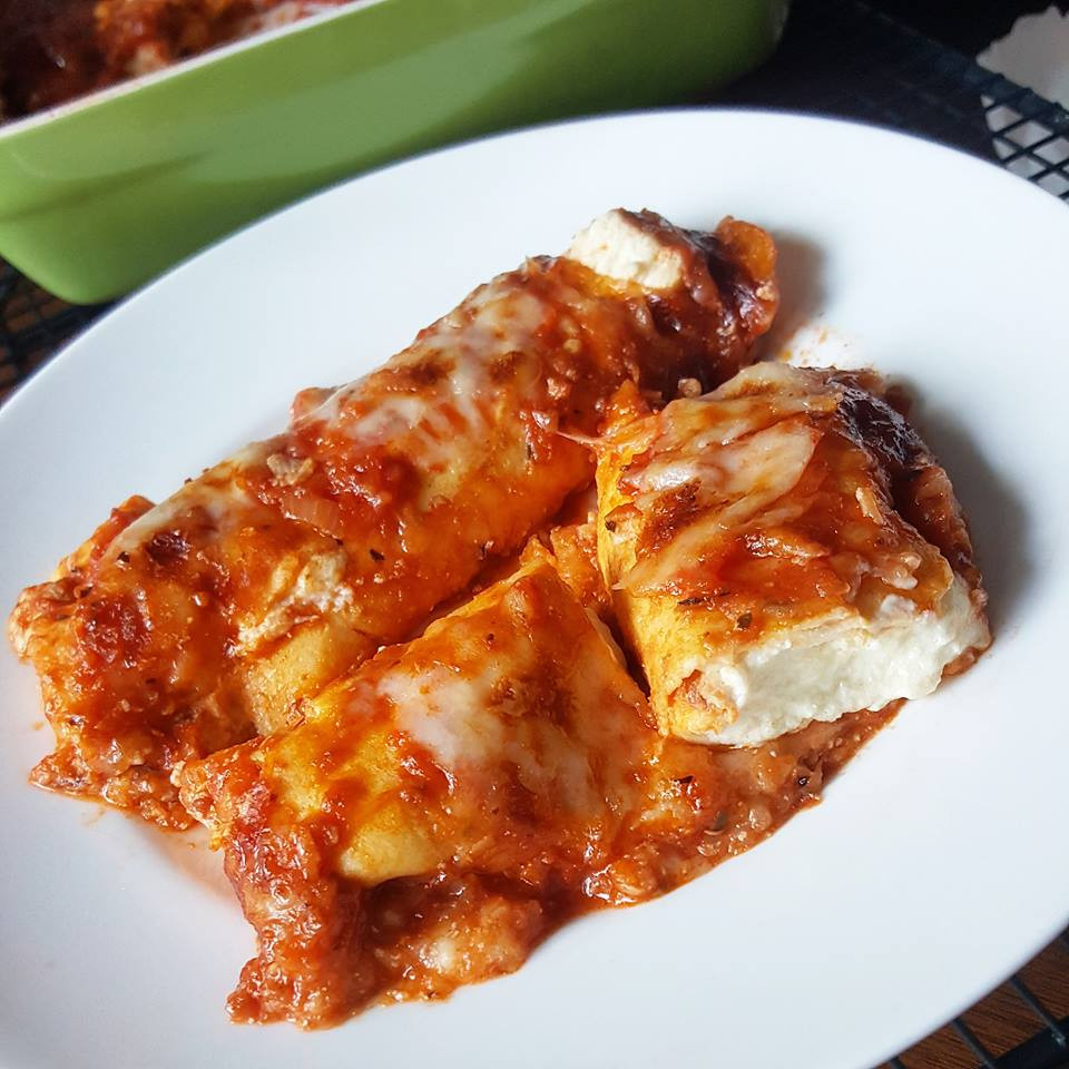 Low Carb Manicotti, Crepe-Style