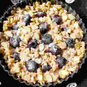 Dark Cherry Almond Coffee Cake | Low Carb | Gluten-Free | Keto