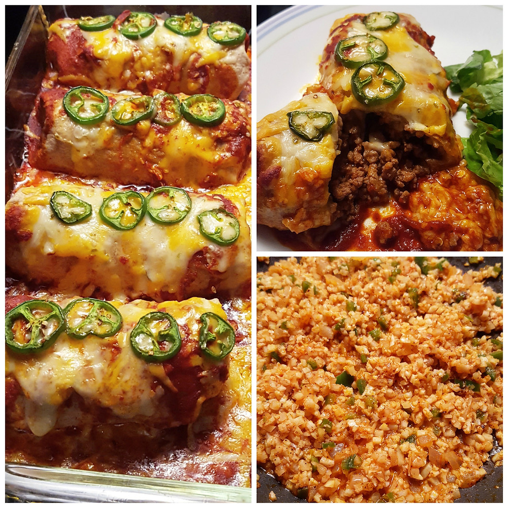Low Carb Beef Enchiladas Spanish Cauliflower Rice